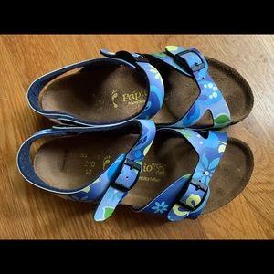 Birkenstock Papillio blue floral sandals, 33 (2)